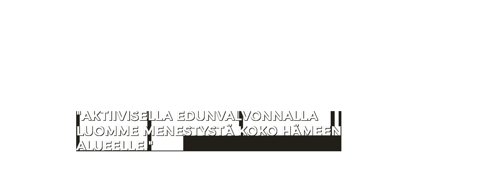 Aktiivisella edunvalvonnalla luomme menestystä koko Hämeen alueelle - Sonja Falk